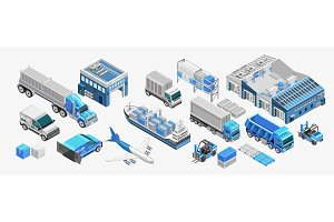 Blue freight transport and