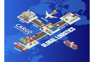 Global logistics structure with