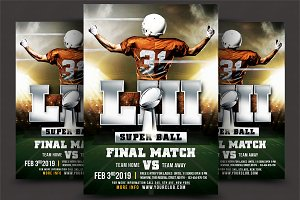 American Football Superball Flyer