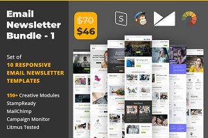 Email Newsletter Template Bundle - 1