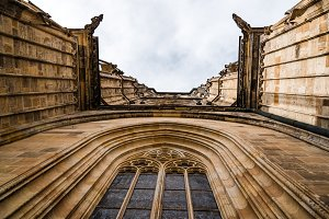 Looking up window of Cathedral of