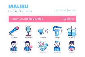 80 Communication Icons | Malibu