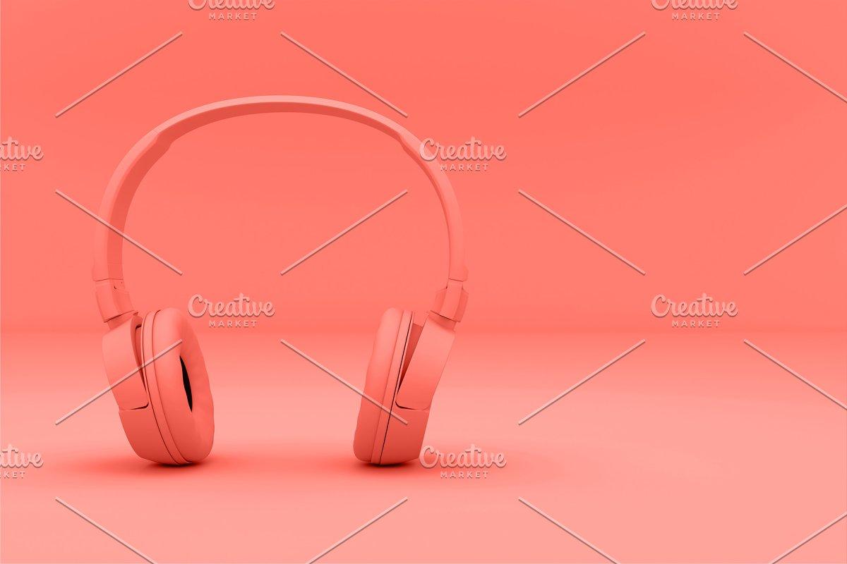 Modern Headphones trend living Coral