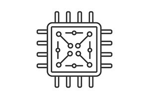 Processor with circuits icon