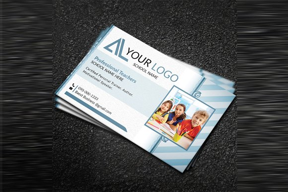 School Business Card Business Card Templates Creative Market