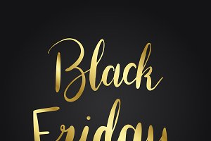 Black Friday typography style