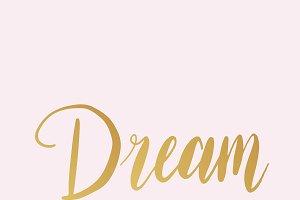 Dream wording typography style