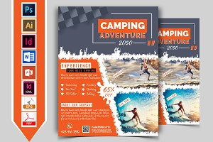 Camping Adventure Flyer Vol-01