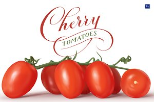 Cherry Tomatoes Hi-Res PSD