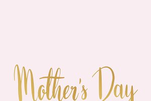 Mother's day typography style