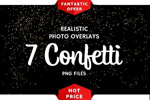 7 Confetti Photo Overlays