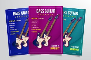 Bass Lessons Flyer Template