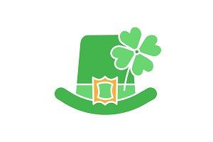 Saint Patrick's Day glyph color icon