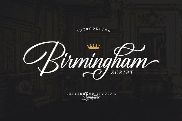 Fonts - Birmingham - Signature Script