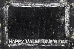 Valentines Day chalkboard background