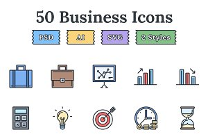 Business – Epic landing page icons