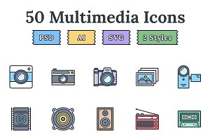 Multimedia – Epic landing page icons