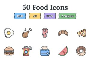 Food & Drinks – Epic landing icons