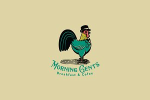 Morning Gents Logo Template
