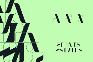 Arx | Display | 2 Fonts + 2 Styles