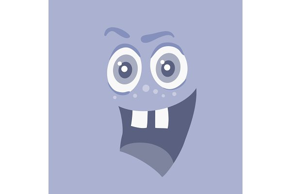 Funny Smiling Monster Smile Bacteri…