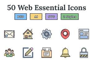 Web essentials – Epic landing icons