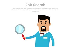 Job Searching Concept Flat Vector