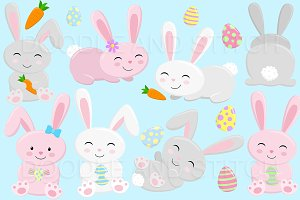 Easter Bunny Clipart Illustrations