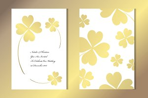 Golden Clover Card Template