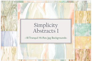 Simplicity Abstracts:  Light Marble