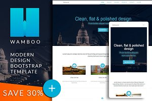 WAMBOO Bootstrap responsive template