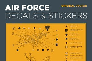 Air Force Decals & Stickers Vector