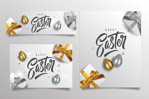 Happy Easter three templates