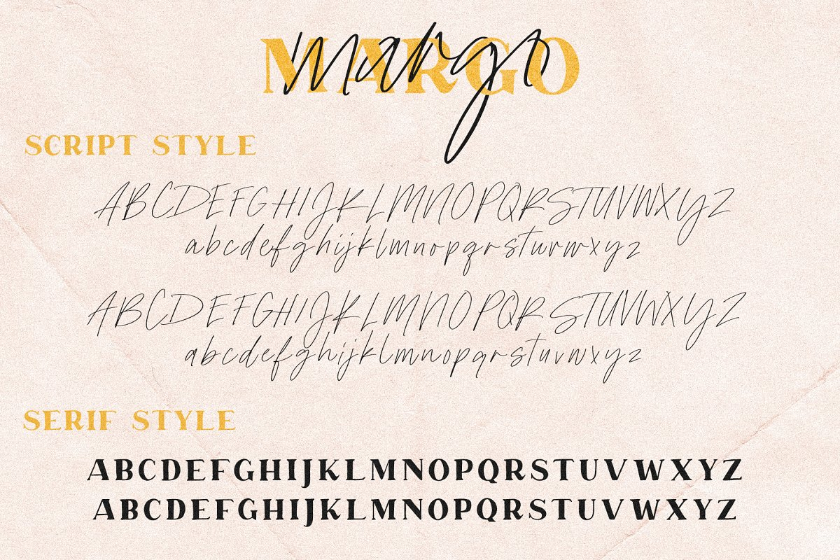 Margo | A Darling Font Duo