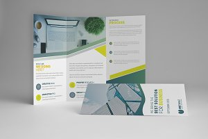 Biz Corporate tri-fold brochure