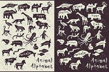 Animal Alphabet. Zoo alphabet.