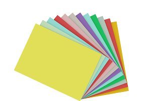 Colorful papers or catalogs for tint
