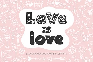 Love is Love. Font Duo.