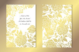Golden Rose Card Template