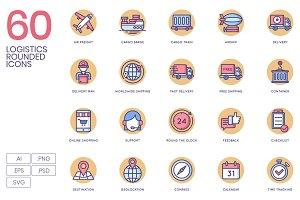 60 Logistics Icons | Butterscotch