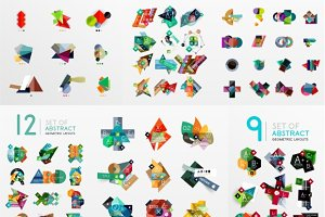 100 abstract geometric layouts