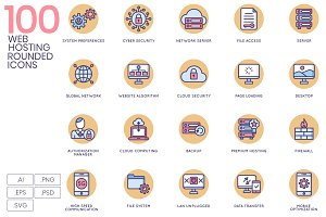 100 Web Hosting Icons | Butterscotch