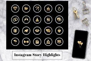 Wedding Instagram Stories Icons