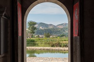 Doorways of Tulou communities at