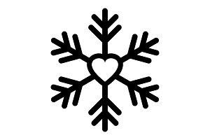 Snowflake icon or logo. Christmas