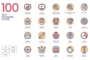 100 SEO Icons | Butterscotch