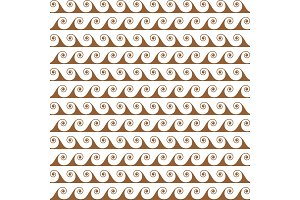 Gold waves lines seamless vector