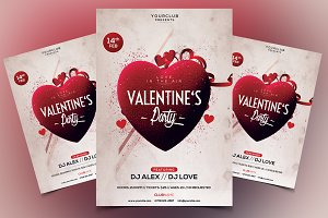 Valentine's Party PSD Flyer Template