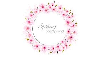 Spring nature background with sakura