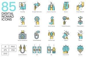 85 Digital Nomad Icons | Aqua